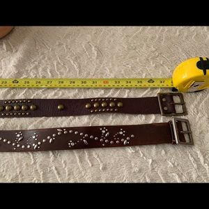 Brown Leather Belts (Bundle of 2) Sz 40